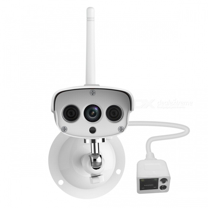 VSTARCAM C16S 2.0MP Mini Waterproof Wi-Fi IP Camera (US Plug)IP Cameras<br>Form  ColorGrayish WhitePower AdapterUS PlugModelC16SMaterialAluminum alloyQuantity1 DX.PCM.Model.AttributeModel.UnitImage SensorCMOSImage Sensor SizeOthers,1/4INCHPixels2.0MPLens3.6mmViewing Angle90 DX.PCM.Model.AttributeModel.UnitVideo Compressed FormatH.264Picture Resolution1960*1080PFrame Rate25FPSInput/OutputN/AAudio Compression FormatNoMinimum Illumination0.3 DX.PCM.Model.AttributeModel.UnitNight VisionYesIR-LED Quantity2Night Vision Distance15 DX.PCM.Model.AttributeModel.UnitWireless / WiFi802.11 b / g / nNetwork ProtocolTCP,IP,SMTPSupported SystemsWindows 2000,2003,XP,Vista,7Supported BrowserIE 6.0 and aboveSIM Card SlotNoOnline Visitor4IP ModeDynamic,StaticMobile Phone PlatformAndroid,iOSFree DDNSYesIR-CUTYesBuilt-in Memory / RAMNoLocal MemoryYESMemory CardTFMax. Memory Supported128GBMotorNoSupported LanguagesOthers,Dutch, Polish, Portuguese, Japanese , English , French , Simplified Chinese , KoreanWater-proofIP67Rate Voltage12VIntercom FunctionNoCertificationCE ROSH FCCPacking List1 x IP camera (65cm-cable)1 x Antenna1 x AC power adapter (US plug / 100~240V / 160cm-cable)1 x Holder stand1 x English user manual 1 x Pack of installation accessories<br>