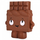 Squishy Chocolate Bar Ultra Soft PU Skumleksaker - Brun