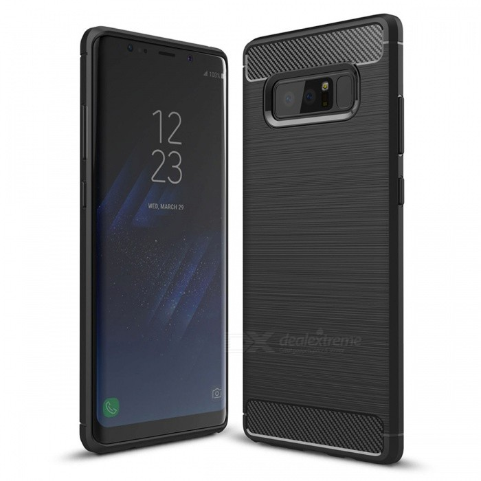 Dayspirit Wire Drawing Carbon Fiber TPU Case for Samsung Galaxy Note8TPU Cases<br>Form  ColorBlackModelN/AMaterialTPUQuantity1 pieceShade Of ColorBlackCompatible ModelsSamsung Galaxy Note8Packing List1 x Case<br>