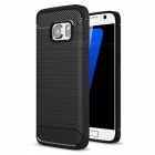 Dayspirit Wire Drawing Carbon Fiber TPU Case for Samsung Galaxy S7