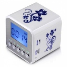 TT032 Mini Portable Digital FM Radio MP3 Player w/ TF Slot - White