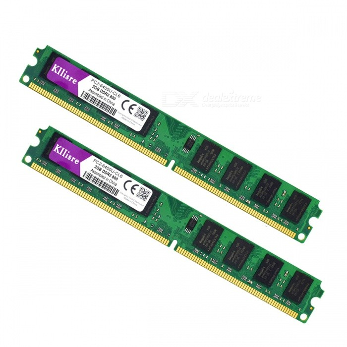 Buy 4GB (2PCSx2GB) DDR2 2GB RAM 800MHz PC2-6400U Desktop Memory with Litecoins with Free Shipping on Gipsybee.com