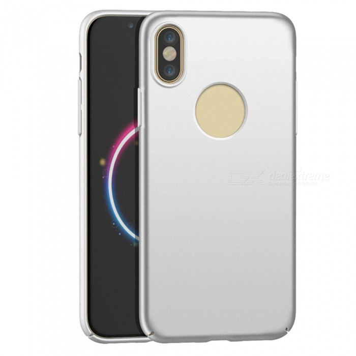 Naxtop PC Hard Protective Back Case for Apple IPHONE X - SilverPlastic Cases<br>Form  ColorSilverModelN/AQuantity1 DX.PCM.Model.AttributeModel.UnitMaterialPCCompatible ModelsOthers,Apple IPHONE XDesignSolid ColorStyleBack CasesPacking List1 x Case<br>