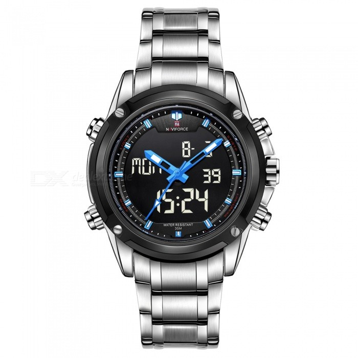 NAVIFORCE 9050 Men Sports Army Metal Wrist Quartz Watch