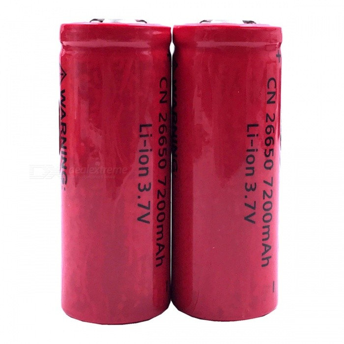 ZHAOYAO-37V-26650-7200mAh-Rechargeable-Lithium-Battery-(2-PCS)