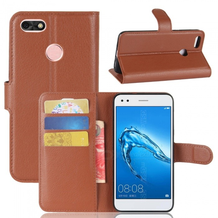 Lychee Pattern Protective PU Case for Huawei Y6 PRO 2017 - BrownLeather Cases<br>Form  ColorBrownModelN/AMaterialPUQuantity1 DX.PCM.Model.AttributeModel.UnitShade Of ColorBrownCompatible Modelshuawei Y6 PRO 2017FeaturesAnti-slip,Dust-proof,Shock-proof,Abrasion resistance,Holder functionPacking List1 x Case<br>