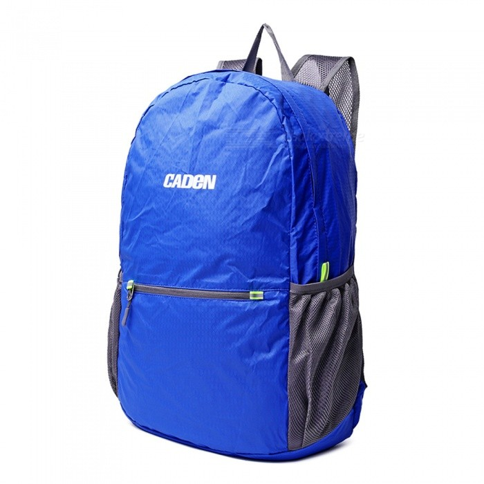 CADEN H6 Outdoor Lightweight Foldable Bag Backpack - Blue for sale in Bitcoin, Litecoin, Ethereum, Bitcoin Cash with the best price and Free Shipping on Gipsybee.com
