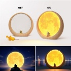 YouOKLight USB-laddning Moon Atmosphere LED-lampa, nattlampa