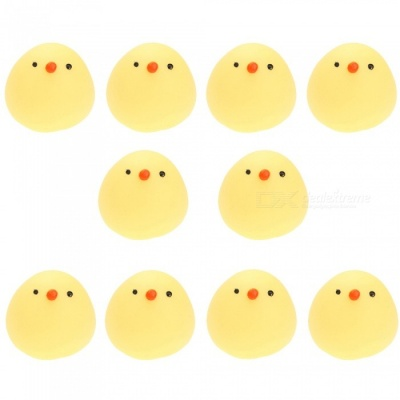 10Pcs Funny Mini Fat Chicken TPR Squishy Toys, Funny Anti-Stress Gift