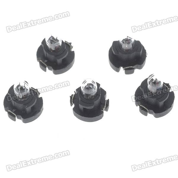 0.91W Car Instrument Yellow Light Bulbs for Audi/Toyota/Mitsubishi/Nissan - Black (5-Pack)