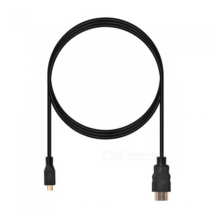 Dayspirit 1080P HD Micro HDMI to HDMI Cable - Black (1.5m)Laptop/Tablet Cable&amp;Adapters<br>Form  ColorBlackModelN/AQuantity1 DX.PCM.Model.AttributeModel.UnitShade Of ColorBlackMaterialABSInterfaceOthers,Micro HDMI / HDMIPacking List1 x Micro HDMI cable (150cm)<br>
