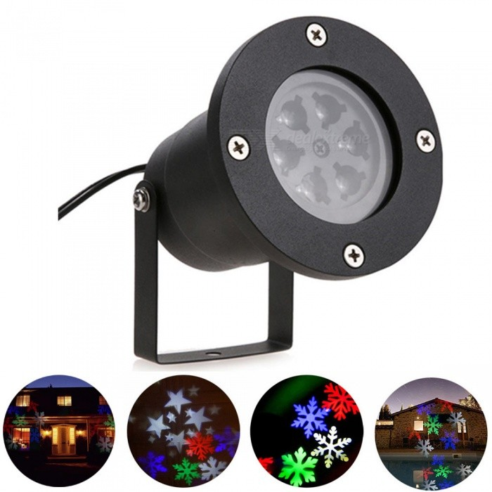 YouOKLight LED RGBW Snowflake Stage Light, projektorlampa-US plugg