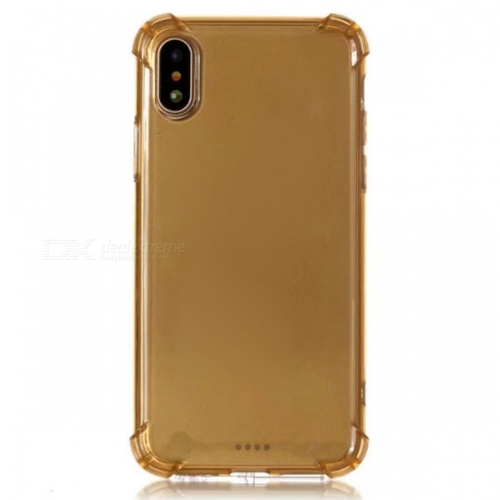 Protective Shock-Resistant TPU Back Case for IPHONE X - YellowTPU Cases<br>Form  ColorTranslucent YellowModelN/AQuantity1 DX.PCM.Model.AttributeModel.UnitMaterialTPUCompatible ModelsOthers,IPHONE XDesignSolid ColorStyleBack CasesPacking List1 x Case<br>