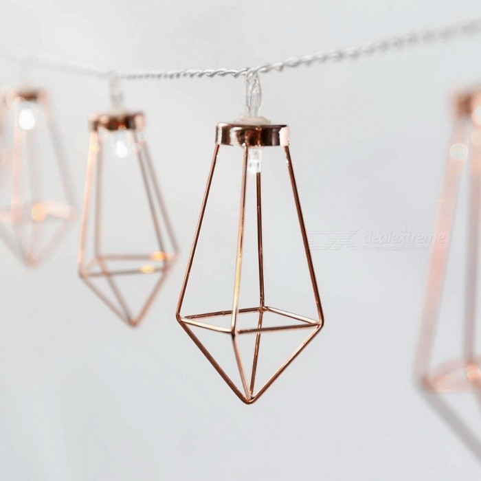 Buy 20-LED Yellow Fairy Light Metal Diamond Style String Light - 3.3M with Litecoins with Free Shipping on Gipsybee.com