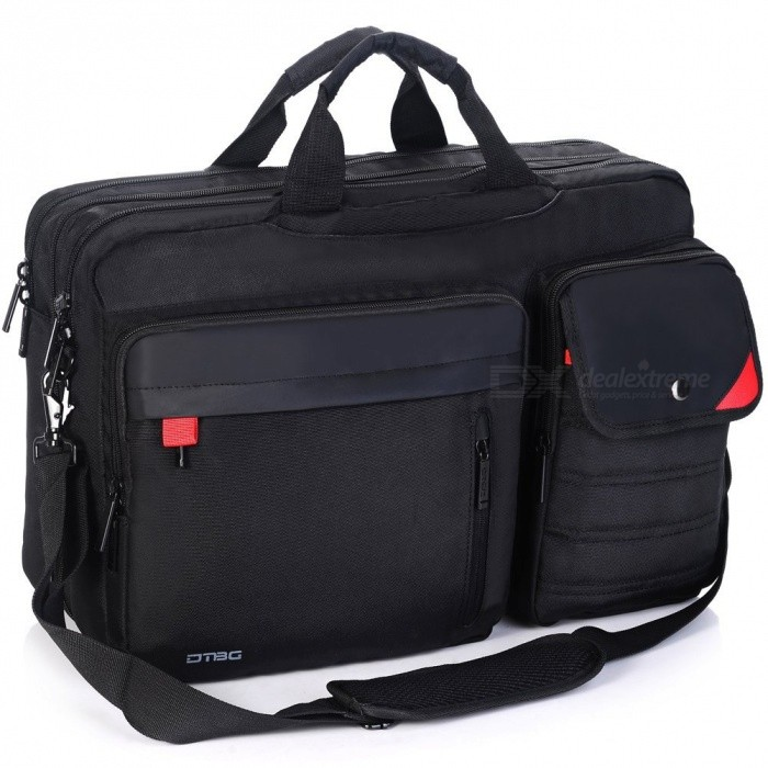DTBG K9016W Nylon Versatile Spacious Business Travel Laptop HandbagBags and Pouches<br>Form  ColorBlackModelK9016WQuantity1 DX.PCM.Model.AttributeModel.UnitShade Of ColorBlackMaterialNylonCompatible Size15.6 inch,17.3 inchTypeMessengers,Tote BagsPacking List1 x Bag<br>