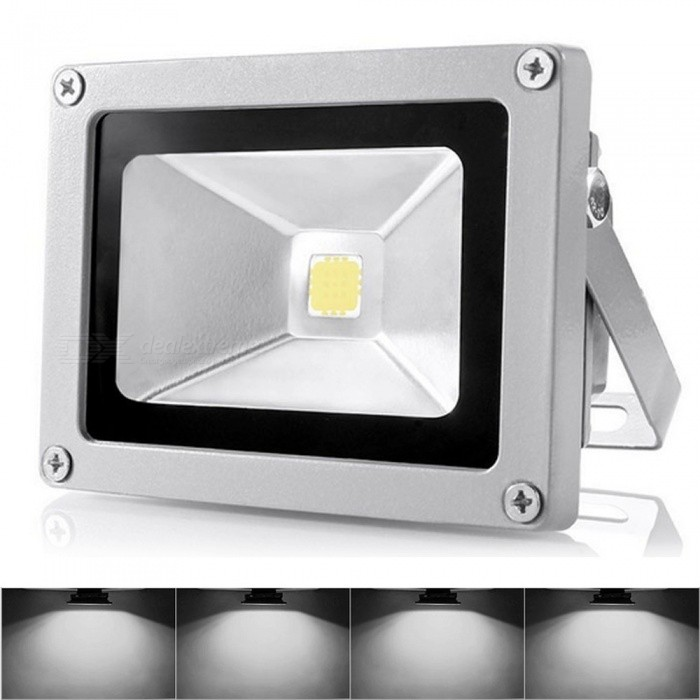 P-TOP-10W-900lm-6000K-White-Light-Wired-LED-Floodlight-Grey