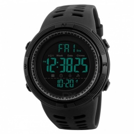 SKMEI 1251 50m Waterproof Men's Digital Sports Watch - Black