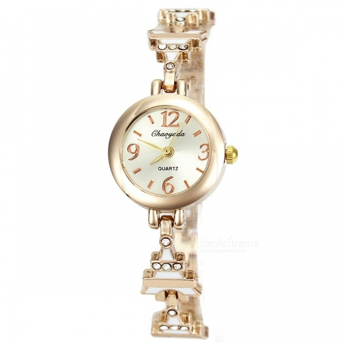 Chaoyada 1139 Rhinestone Bracelet Womens Elegant Quartz WatchWomens Bracelet Watches<br>Form  ColorGolden + WhiteModel1139Quantity1 DX.PCM.Model.AttributeModel.UnitShade Of ColorGoldCasing MaterialElectroplating steelWristband MaterialElectroplating steelSuitable forAdultsGenderWomenStyleWrist WatchTypeFashion watchesDisplayAnalogDisplay Format12 hour formatMovementQuartzWater ResistantFor daily wear. Suitable for everyday use. Wearable while water is being splashed but not under any pressure.Dial Diameter2.3 DX.PCM.Model.AttributeModel.UnitDial Thickness0.8 DX.PCM.Model.AttributeModel.UnitBand Width0.8 DX.PCM.Model.AttributeModel.UnitWristband Length19 DX.PCM.Model.AttributeModel.UnitBattery1 x LR626 battery (included)Packing List1 x Watch<br>