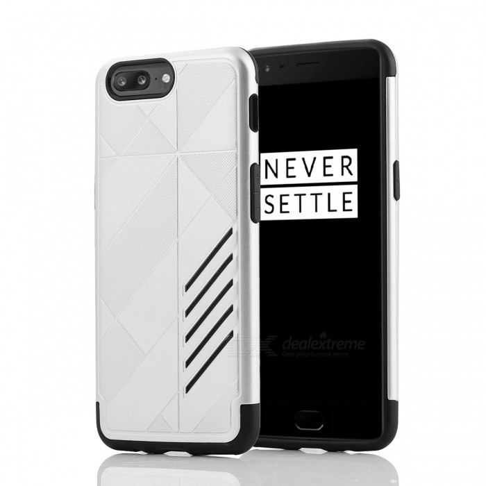 Mini Smile Dual Layer PC TPU Protective Combined Case for Oneplus 5Plastic Cases<br>Form  ColorSilverModelO5-JJMaterialPC + TPUQuantity1 DX.PCM.Model.AttributeModel.UnitShade Of ColorSilverCompatible ModelsOneplus 5FeaturesAnti-slip,Dust-proof,Shock-proof,Abrasion resistance,Easy-to-removePacking List1 x Case<br>