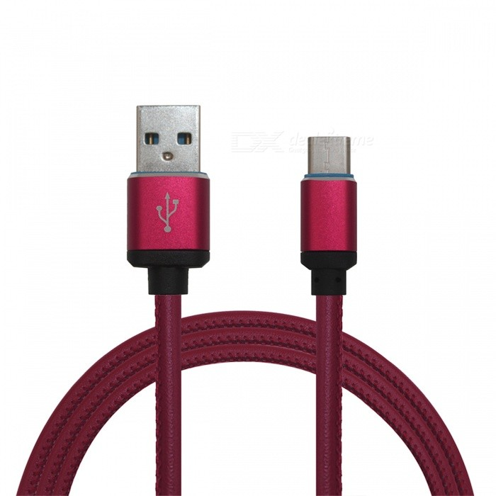 Mini Smile 3.4A Leather Type-C Charging Data Cable for GoPro Hero 5Cables &amp; Adapters<br>Form  ColorPurplish Red ModelTC-PLMaterialLeather + Aluminium alloyQuantity1 DX.PCM.Model.AttributeModel.UnitCompatible ModelsOthers,GoPro Hero 5Cable Length100 DX.PCM.Model.AttributeModel.UnitConnectorUSB 3.1 Type-cPacking List1 x Cable<br>