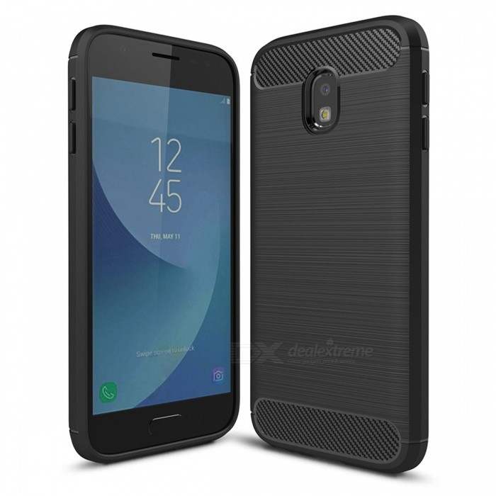Dayspirit Carbon Fiber TPU Case for Samsung Galaxy J3(2017)(EU), J330TPU Cases<br>Form  ColorBlackModelN/AMaterialTPUQuantity1 pieceShade Of ColorBlackCompatible ModelsSamsung Galaxy J3(2017)(EU),J330Packing List1 x Case<br>