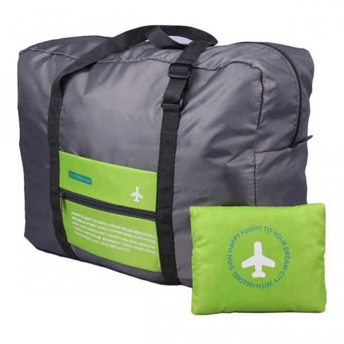 Travel Storage Bag Folding Luggage Clothing Pack Tidy Pouch - GreenStorage Box &amp; Bag <br>Form  ColorBlack + GreenShade Of ColorGreenMaterialPolyester fiberQuantity1 DX.PCM.Model.AttributeModel.UnitPacking List1 x Folding Travel Storage Bag<br>