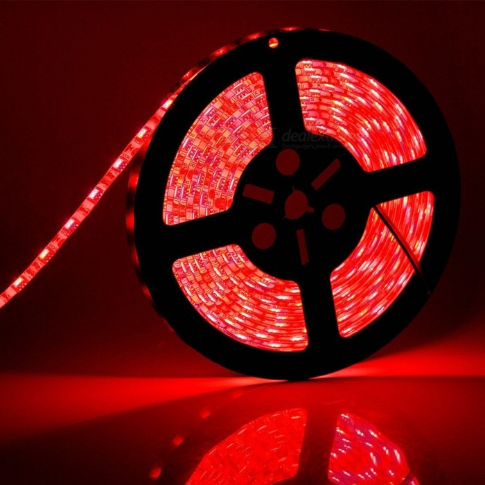 ZHAOYAO IP65 Waterproof 72W DC12V 5050 SMD 300 LED Strip Light - Red5050 SMD Strips<br>Form  ColorBlack + Silver + Multi-ColoredColor BINRedModel5050-300L-RedMaterialCircuit boardQuantity1 DX.PCM.Model.AttributeModel.UnitPower72WRated VoltageDC 12 DX.PCM.Model.AttributeModel.UnitEmitter Type5050 SMD LEDTotal Emitters300Wavelength630-655nmTheoretical Lumens7200 DX.PCM.Model.AttributeModel.UnitActual Lumens20-6000 DX.PCM.Model.AttributeModel.UnitPower AdapterUS PlugPacking List1 x LED Strip Light1 x DC Adapter1 x US Plug Power Adapter<br>