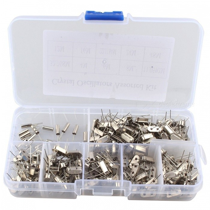 Hengjiaan-200Pcs-10Value-DIY-Quartz-Crystal-Oscillator-Assorted-Kit