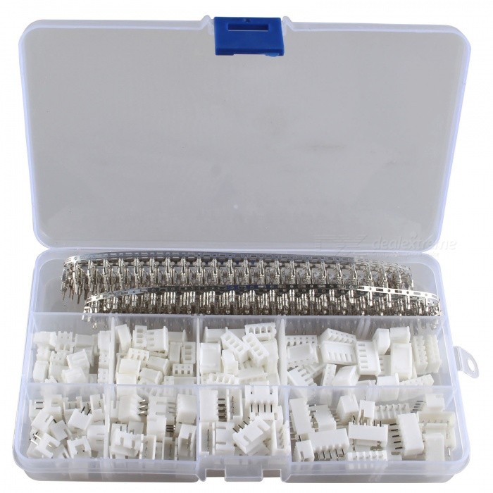 Hengjiaan 560Pcs 2.54mm Male Female Pin DuPont Terminal Connector KitDIY Parts &amp; Components<br>Form  ColorTransparent + WhiteQuantity1 DX.PCM.Model.AttributeModel.UnitMaterialNylon + copperEnglish Manual / SpecNoCertificationNoPacking List1 x Plastic box of 560pcs DuPont terminal connectors<br>