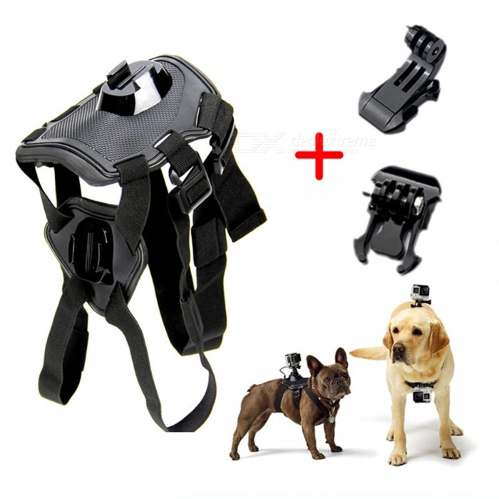 Adjustable Dog Fetch Harness, Chest Strap Belt Mount for GoPro