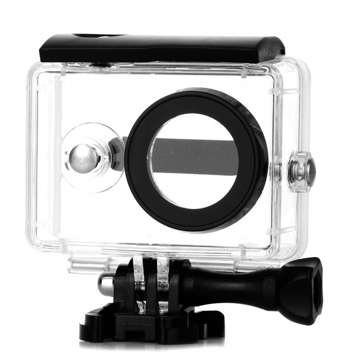 40M Waterproof Housing Case for Xiaomi YI 1080P Sport Action CameraBags &amp; Cases<br>Form  ColorWhiteQuantity1 DX.PCM.Model.AttributeModel.UnitMaterialPlasticShade Of ColorWhiteCompatible ModelsOthers,Xiaomi YI 1080P Sport Action CameraWater ResistantOthers,40M WaterproofAnti-ShockYesSizeFree SizeDimension/ DX.PCM.Model.AttributeModel.UnitInner Dimension/Packing List1 x Waterproof Case (Camera is not included)<br>