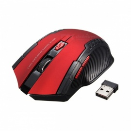 Mini Portable 2.4Ghz 2000DPI Adjustable Wireless Gaming Mouse - Red