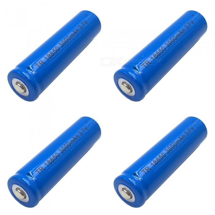 ZHAOYAO-4Pcs-37V-18650-Blue-3000mAh-Rechargeable-Lithium-Battery