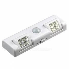 P-TOP 8-LED Wireless Motion Sensor Light for Night Light - White