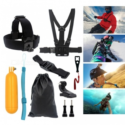 9-in-1 Kit Chest Body Strap, Tripod Monopod, Wrench for Gopro