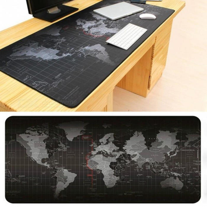 Buy Old World Map Professional Large Gaming Mouse Pad (80 x 30 x 0.2cm) with Litecoins with Free Shipping on Gipsybee.com