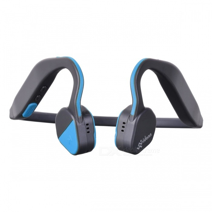 Buy Vidonn F1 Open Ear Wireless Bone Conduction Sport Headphones - Blue with Litecoins with Free Shipping on Gipsybee.com