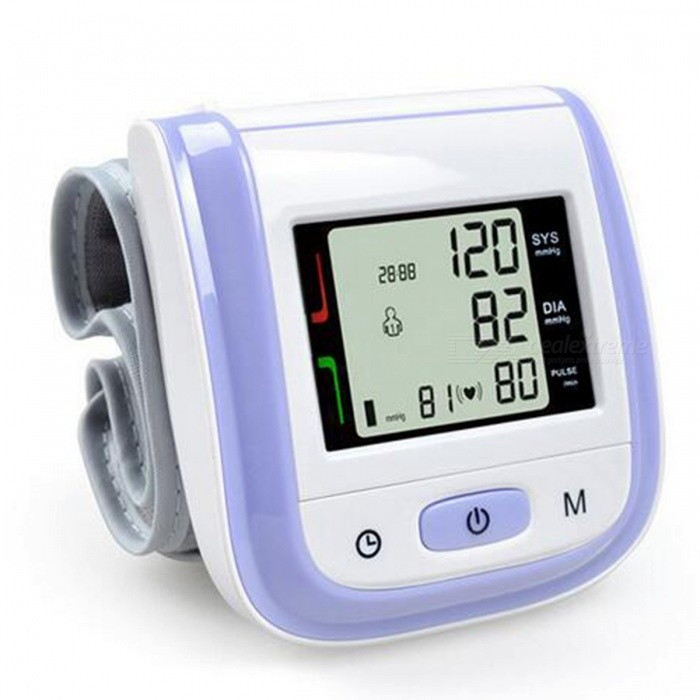 Home-Health-Care-Automatic-Wrist-Blood-Pressure-Monitor-Purple