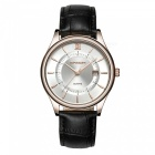 SANDA Japanese Machine Core Mäns Quartz Watch - Svart, Vit