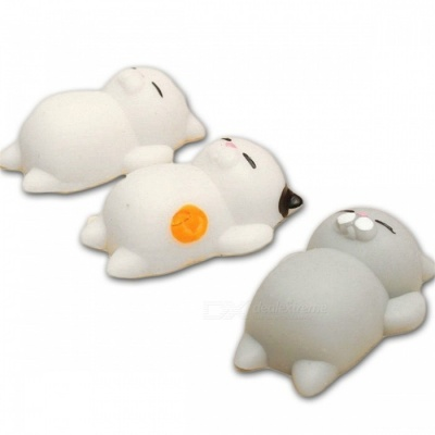 Cute Cartoon Lazy Sleeping Cat Squishy Toy - Mixed Color (3 PCS)