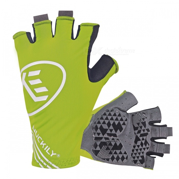 NUCKILY Outdoor Riding Shockproof Half-Finger Gloves - Green (L)Gloves<br>Form  ColorGreenSizeLModelPC04Quantity1 DX.PCM.Model.AttributeModel.UnitMaterialLycra/Microfiber Leather/GEL Palm padsTypeHalf-Finger GlovesSuitable forAdultsGenderUnisexPalm Girth8.5-9.2 DX.PCM.Model.AttributeModel.UnitBest UseCycling,Mountain Cycling,Recreational Cycling,Road Cycling,Bike commuting &amp; touringPacking List1 Pair x Half-finger Gloves<br>