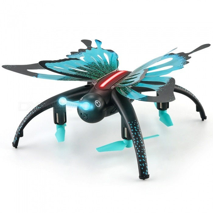 JJRC H42WH Butterfly Wi-Fi FPV RC Quadcopter with 0.3MP CameraR/C Airplanes&amp;Quadcopters<br>Form  ColorSapphire BlueModelH42WHMaterialABSQuantity1 DX.PCM.Model.AttributeModel.UnitShade Of ColorBlueGyroscopeYesChannels Quanlity4 DX.PCM.Model.AttributeModel.UnitFunctionOthers,Up , Down , Left , Right , Forward , Backward , Stop , Hovering , Sideward flightRemote TypeRadio ControlRemote control frequency2.4GHzRemote Control RangeR/C Distance: 80-100m WIFI Distance: About 30-40 DX.PCM.Model.AttributeModel.UnitSuitable Age 9-12 months,13-24 months,12-15 yearsCameraYesCamera PixelOthers,480PLamp YesBattery TypeLi-ion batteryBattery Capacity500 DX.PCM.Model.AttributeModel.UnitCharging Time40-60 DX.PCM.Model.AttributeModel.UnitWorking Time6 DX.PCM.Model.AttributeModel.UnitRemote Controller Battery TypeAARemote Controller Battery Number2 (Not Included)Remote Control TypeWirelessModelMode 2 (Left Throttle Hand)CertificationCEPacking List1 x JJRC H42WH RC Quadcopter (With 0.3MP Camera)1 x 3.7V 600mAh Li-po Battery(Built-in)1 x Remote Control1 x Mobile Phone Stand1 x USB Cable1 x Propeller Set1 x Assemble tool1 x English Manual<br>