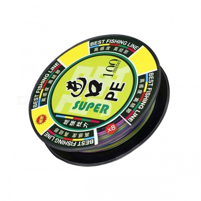 High Quality 0.234mm 5 Colors PE Fishing Line - 100M