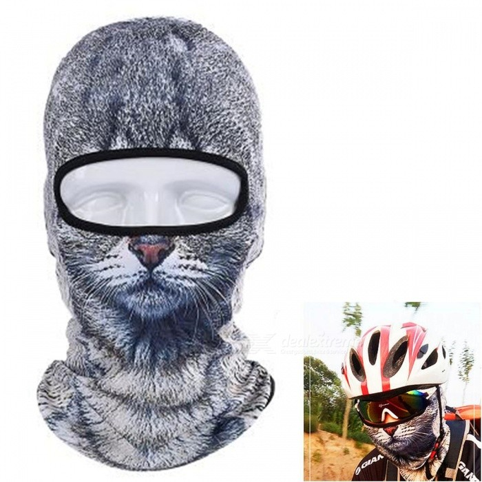 Creative Dustproof Unisex Cat Face Mask for OutdoorMasks<br>Form  ColorMulti-ColoredSizeFree SizeQuantity1 DX.PCM.Model.AttributeModel.UnitMaterialPolyester fibreShade Of ColorBlackSeasonsFour SeasonsGenderUnisexHead Circumference45 DX.PCM.Model.AttributeModel.UnitBest UseClimbing,Mountaineering,Travel,Cycling,FishingPacking List1 x Animal face mask<br>