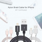 ROCK MFI Lightning to USB Charge & Sync Round Cable - Rose Gold (1m)