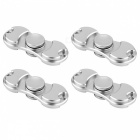 KICCY-4Pcs-EDC-Fidget-Spinners-for-Relieving-Stress-Anxiety-Silver