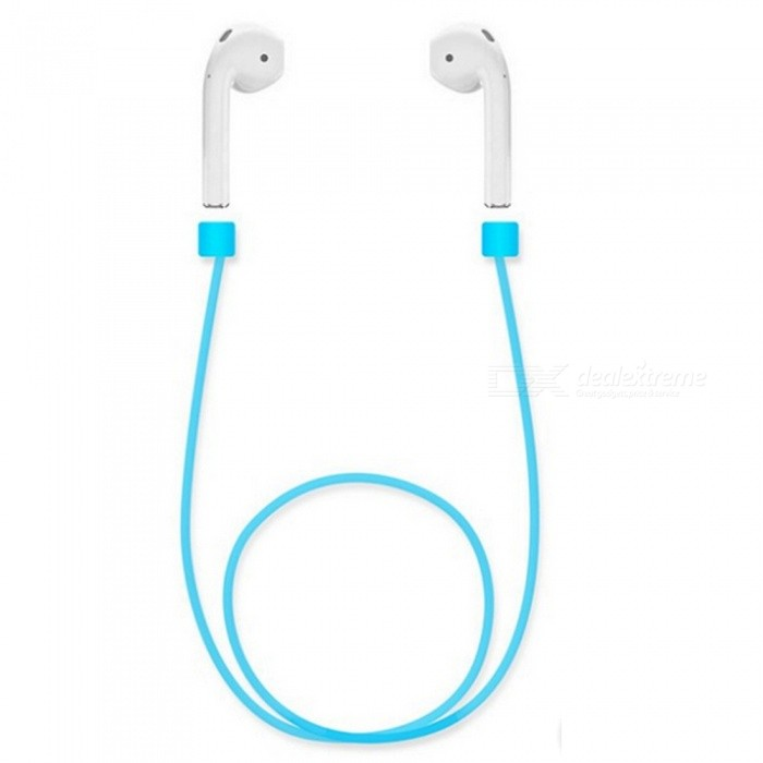 Buy Kiccy Silicone Ear Loop Strap Anti Lost String Rope for AirPods - Blue with Litecoins with Free Shipping on Gipsybee.com