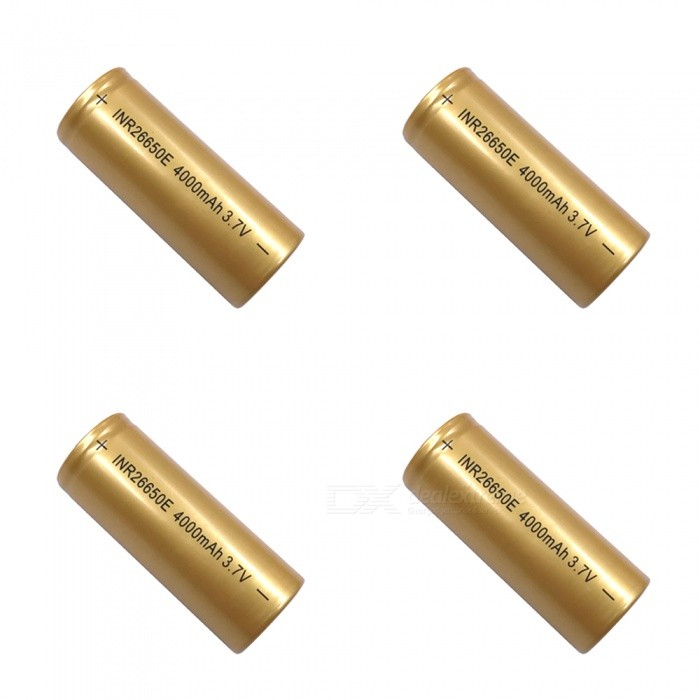 ZHAOYAO-37V-26650-4000mAh-Rechargeable-Lithium-Battery-4PCSGold