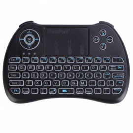 Mini Wireless Keyboard Touchpad Mouse w/ Tri-color Backlit