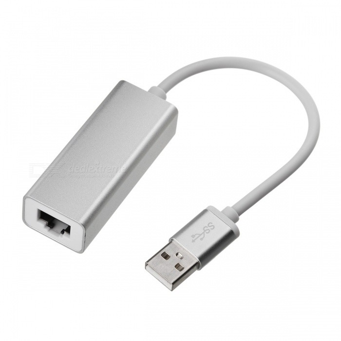 BSTUO Aluminium Alloy USB2.0 to RJ45 10/100Mbps Ethernet Adapter CableLaptop/Tablet Cable&amp;Adapters<br>Form  ColorSilverModelN/AQuantity1 DX.PCM.Model.AttributeModel.UnitShade Of ColorSilverMaterialAluminium alloyInterfaceUSB 2.0,Others,RJ45Compatible ModelUniversalTransmission Rate10,100 DX.PCM.Model.AttributeModel.UnitPacking List1 x USB to RJ45 Adapter Cable<br>